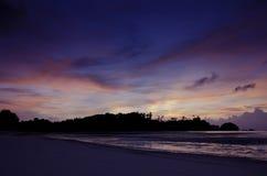 Luce piacevole di tramonto con tempo crepuscolare Immagine Stock Libera da Diritti