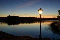 Luce recente di sera dell'arcipelago Fotografia Stock Libera da Diritti