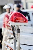 Luce rossa della polizia Fotografia Stock