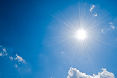 Luce solare fotografie stock