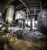 Luce solare al cimitero industriale Fotografia Stock Libera da Diritti