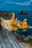 Luce solare che illumina una parte dell'area rocciosa all'area di Urros sopra Fotografie Stock Libere da Diritti