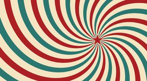 Luce solare d'annata astratta del fondo blu e verde giallo rosso dei fiori con una stella nel centro Stile del circo di carnevale illustrazione vettoriale