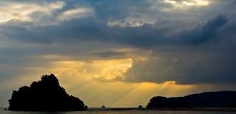 Luce solare della spiaggia Immagini Stock