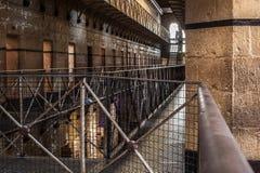 Luce solare di Melbourne Gaol fotografia stock libera da diritti
