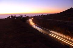 Luce solare di sera su Redondo Beach Fotografia Stock Libera da Diritti