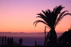 Luce solare di sera su Redondo Beach Immagine Stock