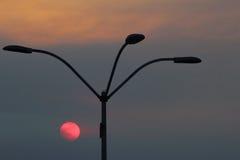 Luce solare di sera su Redondo Beach Fotografie Stock