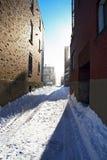 Luce solare dopo la bufera di neve Fotografie Stock Libere da Diritti