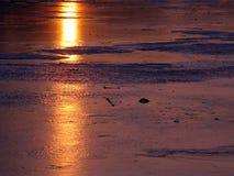Luce solare e ghiaccio Fotografie Stock
