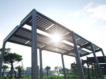 Luce solare ed energia solare Fotografia Stock