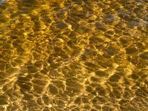 Luce solare su acqua Fotografia Stock Libera da Diritti