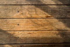 Luce solare su legno Immagini Stock