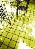 Luce solare sul caffè di streetside Fotografia Stock Libera da Diritti