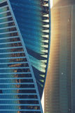Luce solare sul grattacielo Torre di vetro, alta tecnologia Fotografia Stock