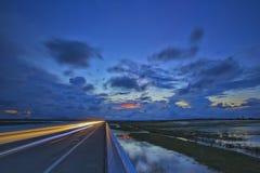 Luce sul ponte Fotografia Stock Libera da Diritti