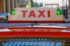 Luce superiore del taxi Fotografie Stock