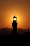 Luce tramite il faro Fotografie Stock