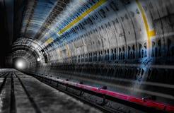 Luce in tunnel del sottopassaggio Fotografia Stock Libera da Diritti