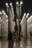 Luce urbana al museo di arte della contea di Los Angeles fotografia stock libera da diritti