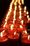 Luce verticale della candela fotografia stock