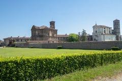 Lucedio, villaggio storico vicino a Vercelli, Italia, fotografie stock