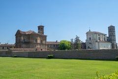 Lucedio, villaggio storico vicino a Vercelli, Italia, fotografia stock