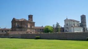 Lucedio, villaggio storico vicino a Vercelli, Italia, fotografia stock libera da diritti