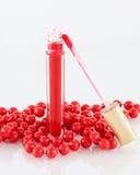 Lucentezza rossa del labbro Fotografie Stock