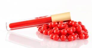 Lucentezza rossa del labbro Fotografie Stock Libere da Diritti