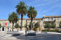 LUCERA - SEP 15: A small piazza in Lucera Royalty Free Stock Photos