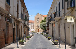 LUCERA - SEP 15: A street in Lucera Stock Image