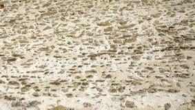 水平的概略的墙壁石头纹理关闭城堡在Lucern 免版税库存图片