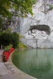 Lucern lejon Royaltyfria Foton