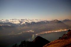 Lucern sjö i Schweiz arkivbild