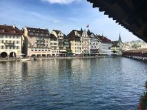 lucern switzerland Royaltyfri Foto