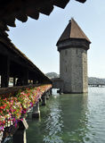 Lucern Switzerland bridge Stock Photo