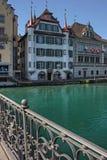 Lucerna è un'agglomerazione urbana nel paese della Svizzera in Europa immagini stock libere da diritti