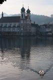 Lucerna, capitale del cantone di Lucerna, Svizzera centrale, Europa Immagine Stock