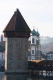 Lucerna, capitale del cantone di Lucerna, Svizzera centrale, Europa Immagini Stock Libere da Diritti