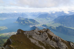 Lucerna jeziora widok Zdjęcie Stock