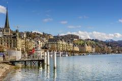Lucerna na Jeziornej lucernie w Szwajcaria Obrazy Stock