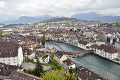 lucerna panoramiczny Switzerland Obrazy Royalty Free
