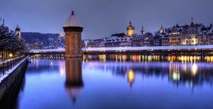 lucerna panoramiczny Switzerland Zdjęcia Royalty Free