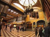 Lucerna Passage - tourists looking at the horse sculpture Stock Photo