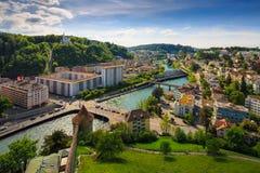 Lucerna, Suiza, visión superior Fotos de archivo