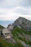 Lucerna, Svizzera - 20 agosto 2010: Nea della stazione di Pilatus Kulm Immagine Stock