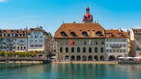 LUCERNA SZWAJCARIA, LIPIEC, - 04, 2017: Widok historyczny lucerny centrum miasta, Szwajcaria Lucerna jest kapitałem Fotografia Royalty Free