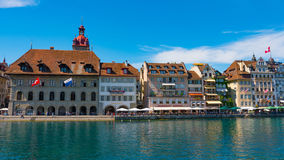 LUCERNA SZWAJCARIA, LIPIEC, - 04, 2017: Widok historyczny lucerny centrum miasta, Szwajcaria Lucerna jest kapitałem Zdjęcia Stock