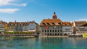 LUCERNA SZWAJCARIA, LIPIEC, - 04, 2017: Widok historyczny lucerny centrum miasta, Szwajcaria Lucerna jest kapitałem Obraz Royalty Free